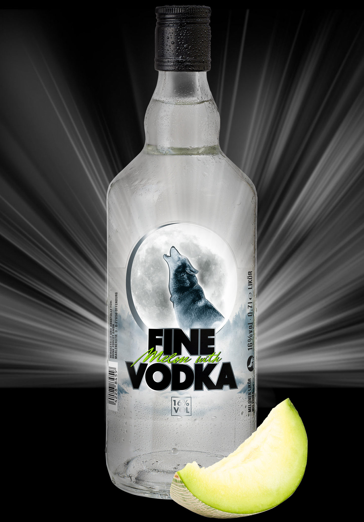 Fine Melon with Vodka Melonenvodka Happy End
