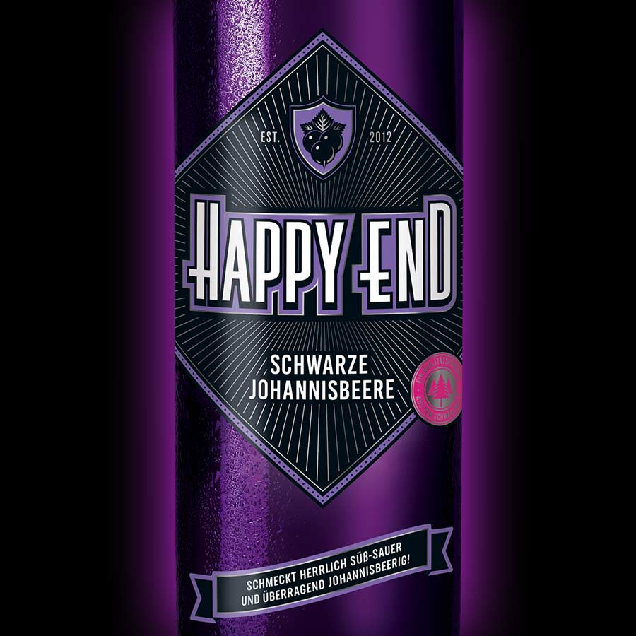 Happy End Schwarze Johannisbeere Etikett 2019