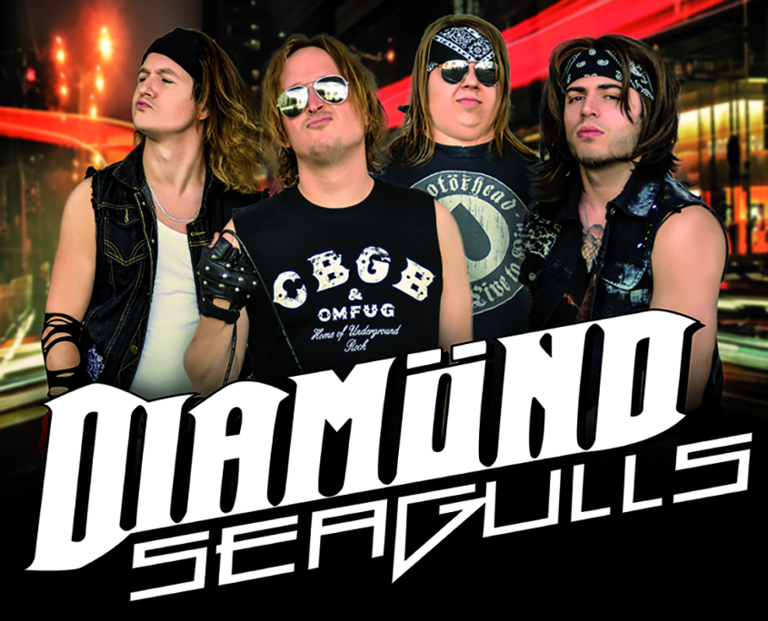 Diamond Seagulls Glam Rock Band2